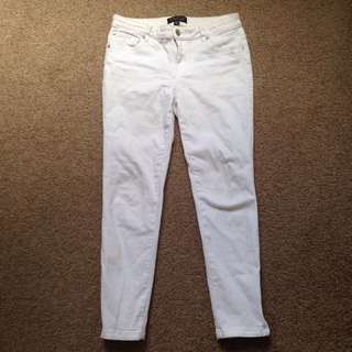 AUS size 10 white jeans