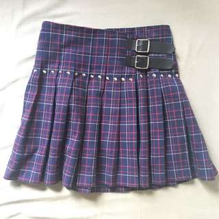 NEW Comme Des Garçon Watanabe checked Pleated wrapped skirt