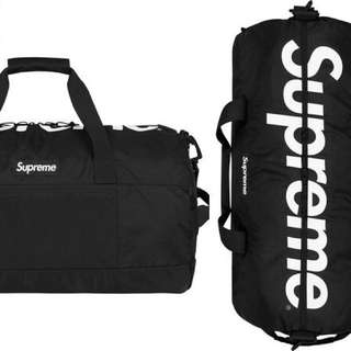 Black Supreme Duffle Bag