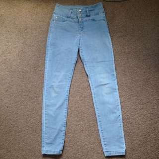 Size 9 high rise jeans