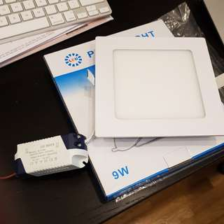 "9W LED Down Light - Warm White 5.75"" Square"