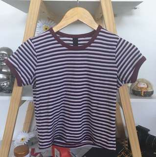 Striped baby tee