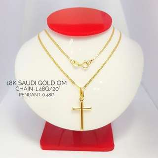 18K SAUDI GOLD NECKLACE