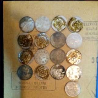 舊 壹圓 硬幣 17枚