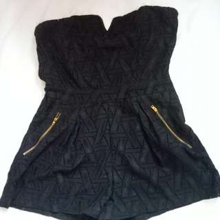 Black tube romper