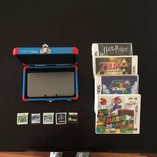 Nintendo 3DS plus case, 5 games and charger