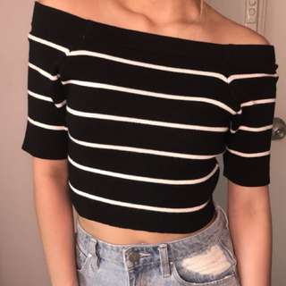 VINTAGE OFD SHOULDER CROP