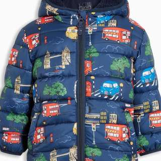 Next london print padded jacket