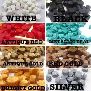 Wax seal beads
