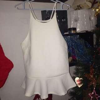 Ladies white sleeveless top