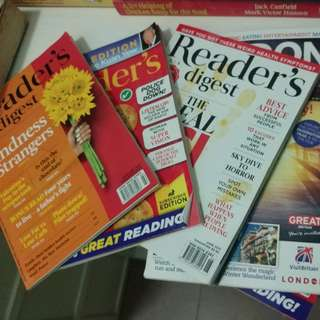 Various old Reader's digest