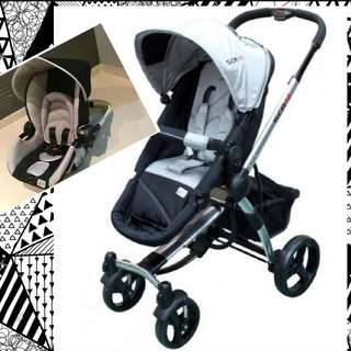 Scr10/7 Baby Stroller include extend new born baby seat