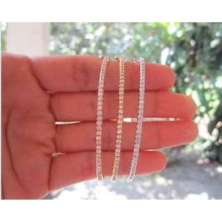 5.25 Carat Diamond Tricolor Bangle Bracelet 18k