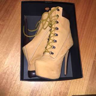 Timberland look heels