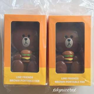 McDonald's Line Portable Brown Bear Fan