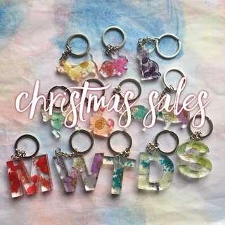 押花鎖鑰扣 (內有聖誕福包)
