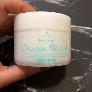 Brand new lululun cream mask from Japan