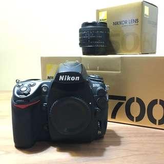 Nikon full frame FX D700 + AF 50 1.8D