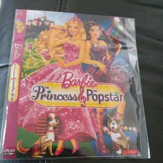 Barbie The Princess & The Popstar DVD to bless / give away