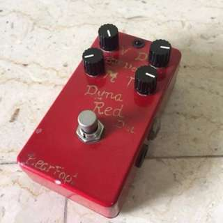 Bearfoot Dyna Red Distortion Overdrive Boost Preamp Electric Guitar Effect Pedal Stompbox