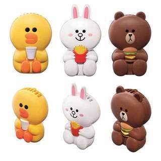 McDonald's Line Friends Fan - Brown