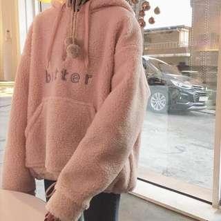 粉嫩羔羊帽T