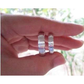 .03 Carat Diamond White Gold Wedding Rings 14K CODE: WD003