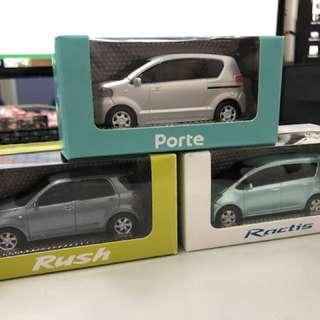 全新非賣品 Porte、Ractis and Rush 回力車仔