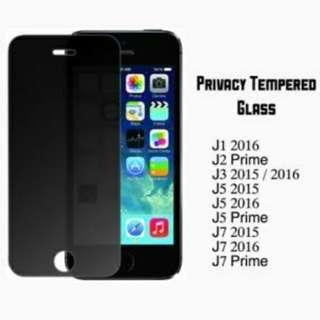 J7 Prime Privacy Tempered Glass