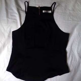 black fitting top size 8