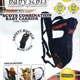 GENDONGAN BAYI BABY SCOTS EMBROIDERY BABY CARRIER ISG007