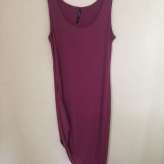 High low purple dress