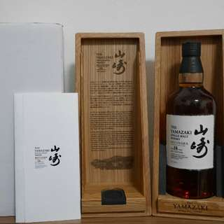 山崎18年 水楢桶 Mizunara 2017 Edition Suntory Whisky Yamazaki