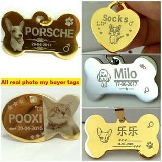 10% OFF Customized Engraving Pet ID Tag For Dog & Cat