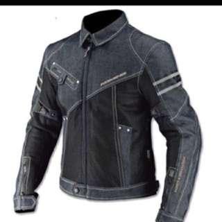 Komine denim touring jacket with armour