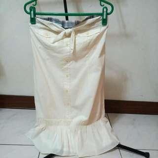 百貨專櫃E-WEAR鵝黃洋裝