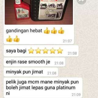 ENGINE OIL 4T SEMI SYNTHETIC 15W50 PLATINUM OIL