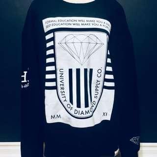 Diamond Supply Co. Men's Brilliant Crewneck Sweatshirt Black Long Sleeve Tops