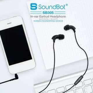 🚚 美國聲霸SoundBot SB305運動型人體工學入耳式耳機