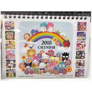 Sanrio 2018 calendar
