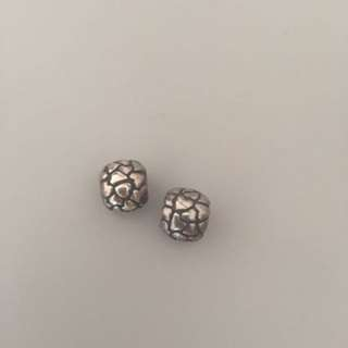 Pandora silver heart charms