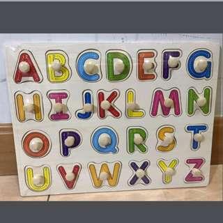 全新 兒童學習益智木制手抓板 鑲嵌拼版