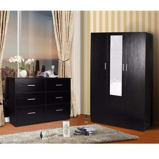 package deal for a 3 doors combo wardrobe + a lowboy