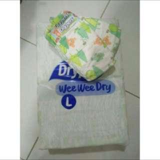 Drypers wee wee dry (L-44) diapers