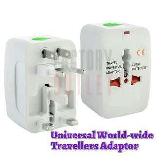 Worldwide Travel Adaptor For Use In All International Countries