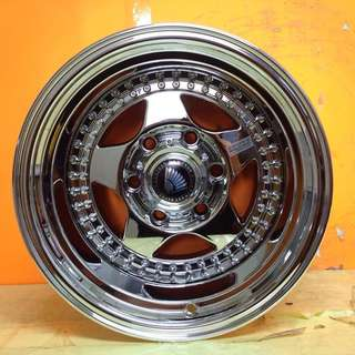 15 inch SPORT RIM 4x4 RAGUNA SUPER CHROME RACING WHELLS