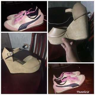 Sold as bundle Auth pink Puma and Mario d Borro wedge