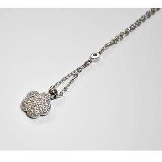 kalung koye flower silver 925 gem zircon / perhiasan wanita / jewellery