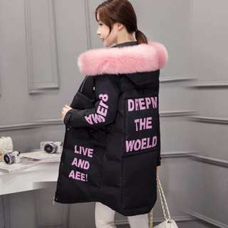 引人犯醉✌️️現貨😎新款韓版中長款加厚羽絨棉衣冬裝時尚棉服保暖棉襖潮流大衣