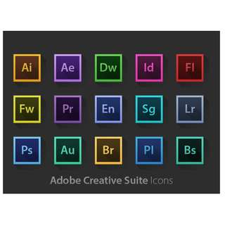 Adobe Photoshop , llustrator , inDesign ,  Adobe Premiere Pro  , After Effects , and a lot more. All in One. CC 2017 (LIFETIME)